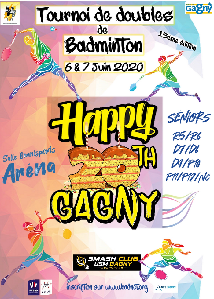 Affiche happy twenties gagny redimensionner