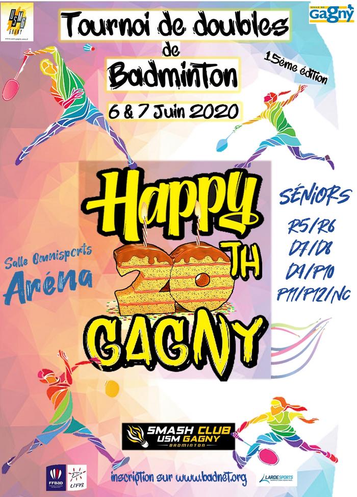 Affiche happy twenties gagny redimensionner