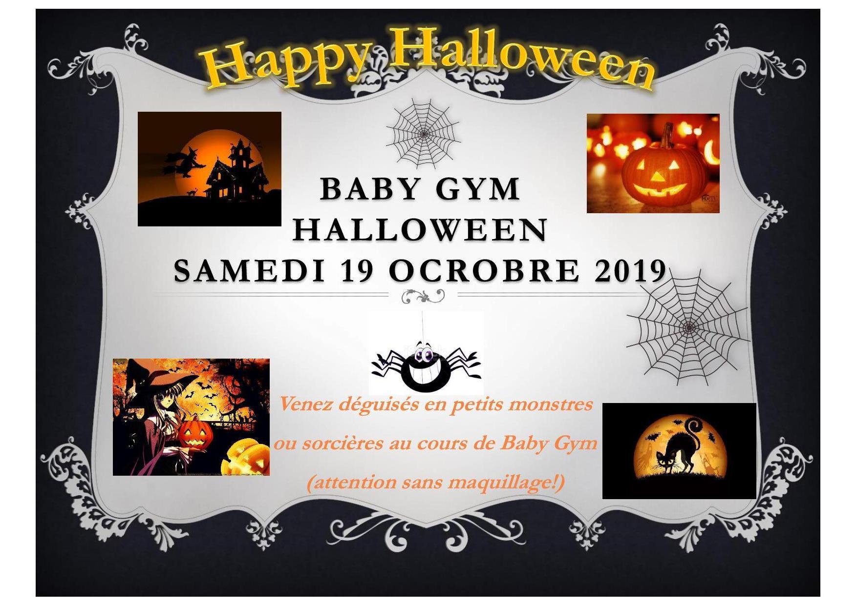 Baby gym halloween samedi 15 octobre