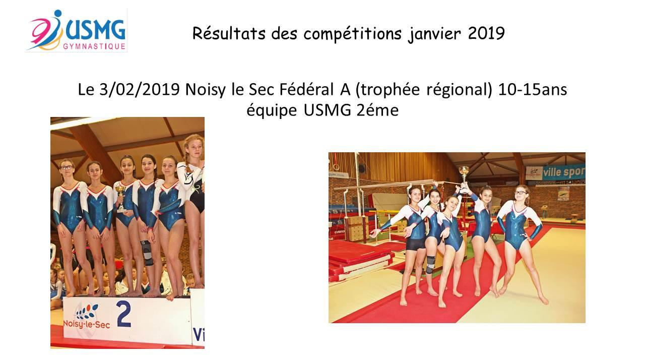 Gym resultats compet 1 2019