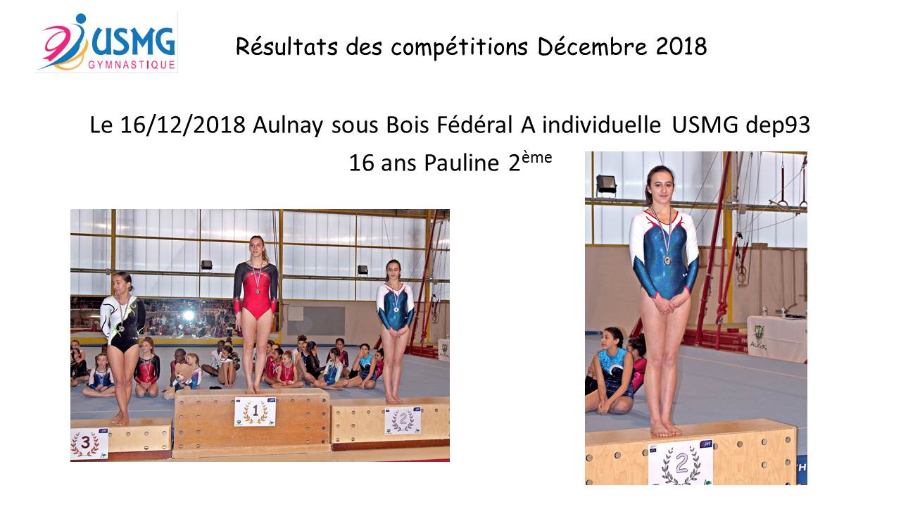 Gym resultats compet 2 2019