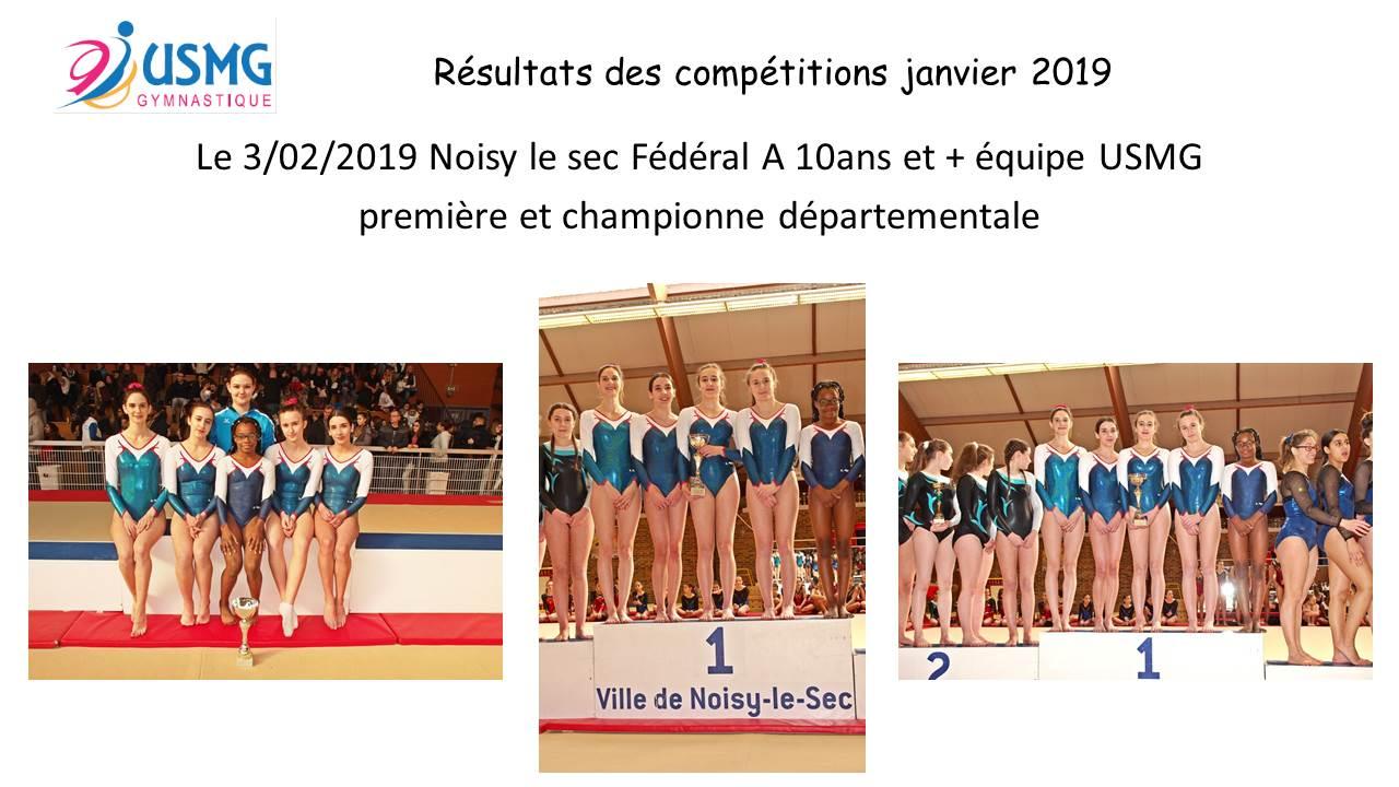 Gym resultats compet 2019
