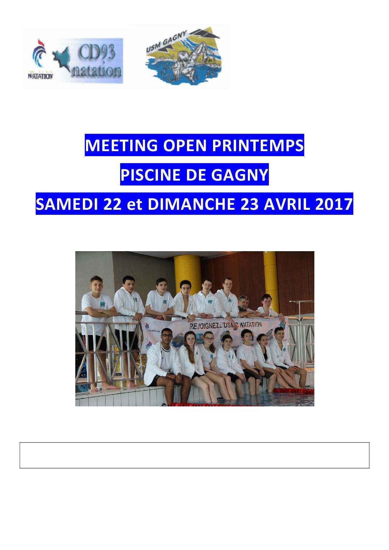 Open 93 de printemps 2017