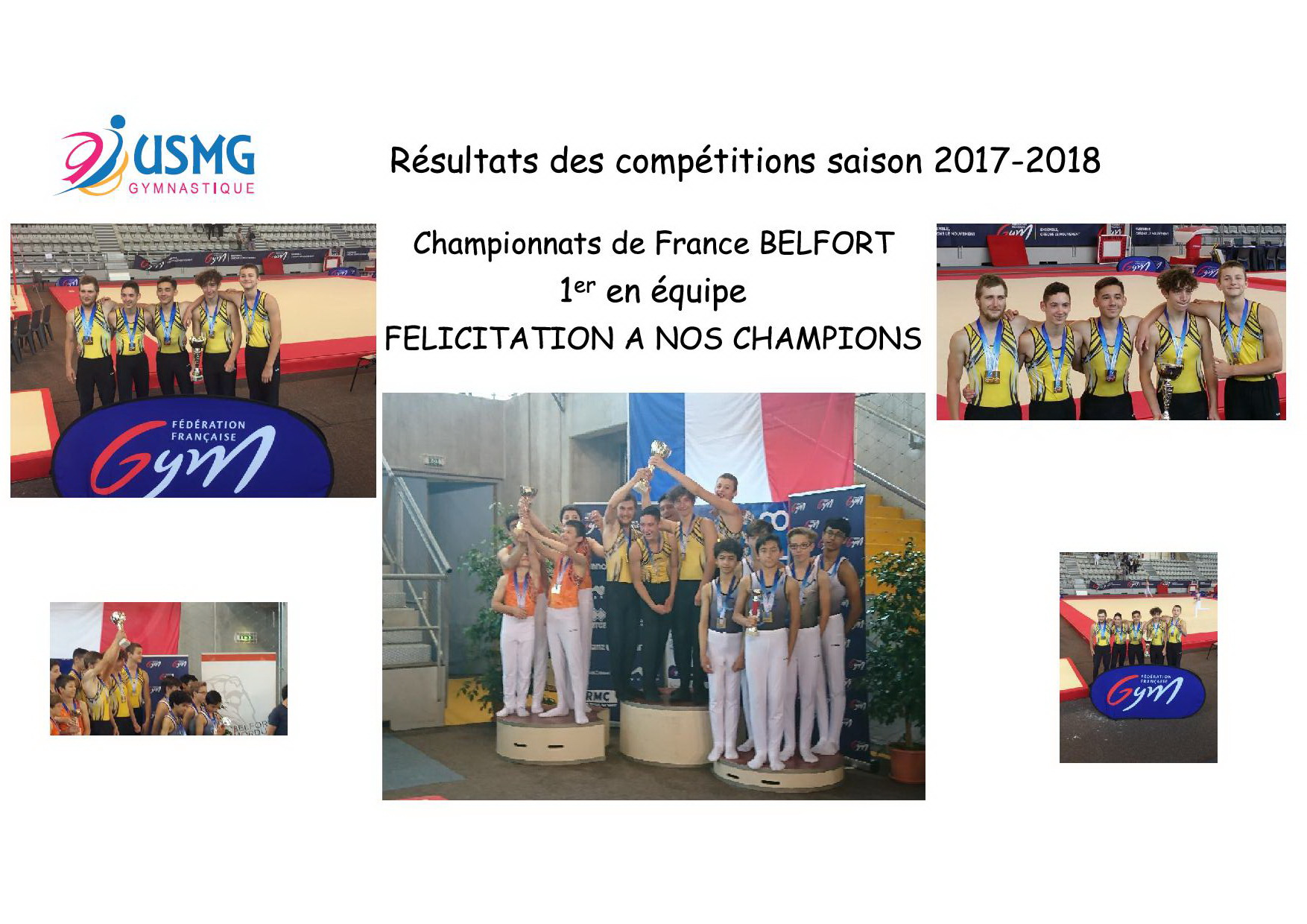 Resultats des competitions
