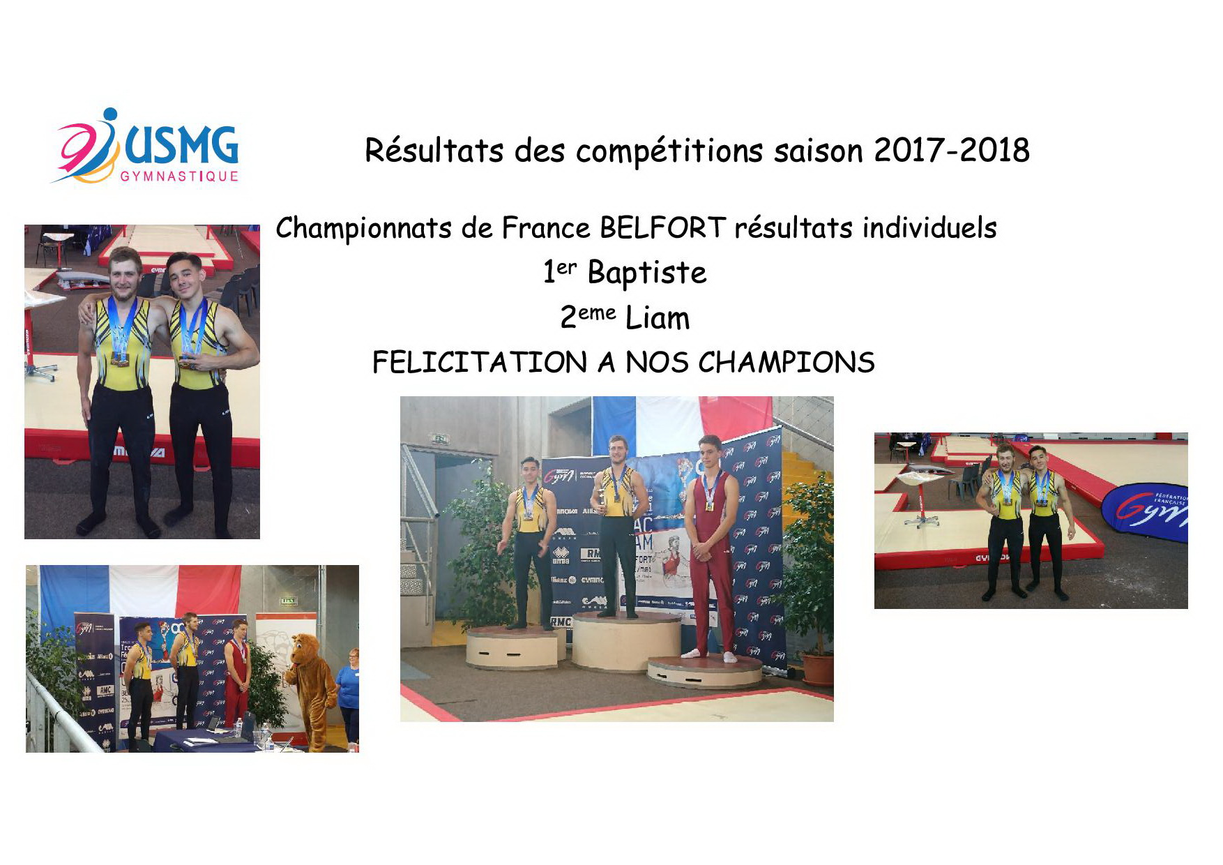 Resultats des competitions 3